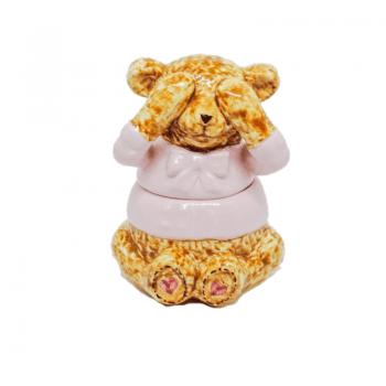 Urso Suka Ceramica Rosa