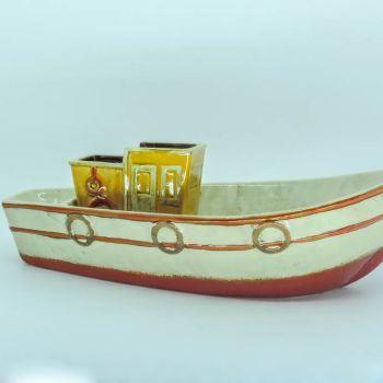 Barco Pesqueiro Cerâmica