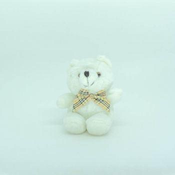 Urso Xadrez Branco Mini