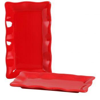 Porta Doce Silveira Vermelho