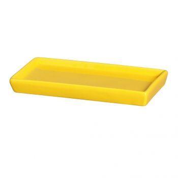 Porta Doce Reto Amarelo Vivo