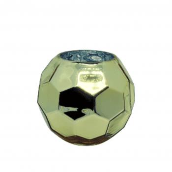 Vaso Hexagonal Dourado