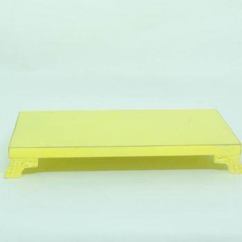 Bandeja com pés de resina Amarela
