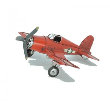 Aviao Miniatura Ferro Vermelho