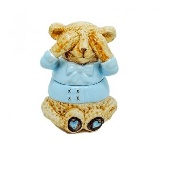 Urso Suka Ceramica Azul
