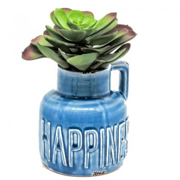 Vaso Happiness Azul