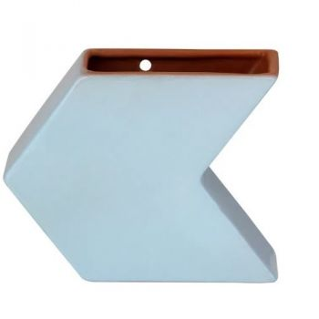 Vaso Seta Cerâmica STK Azul