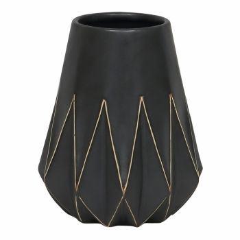 Vaso Geometrico Dourado Preto P