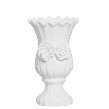 Vaso Sicilia Aplicação Floral Branco G