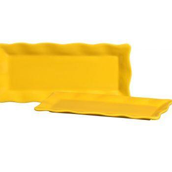 Porta Doce Silveira Longo Amarelo Vivo