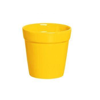 Vaso Jardim Sil Amarelo Vivo