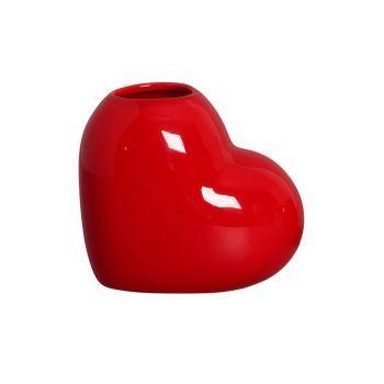 Vaso Coração Vermelho