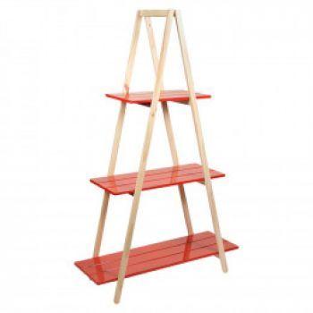 Estante escada Pirâmide Vermelha