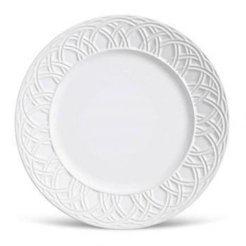 Prato Raso Cerâmica Argolas Branco