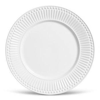 Prato Raso Cerâmica Raios Branco