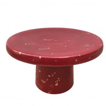 Boleira Bia Exclusiva Abstrato Vermelho Pingo Ouro