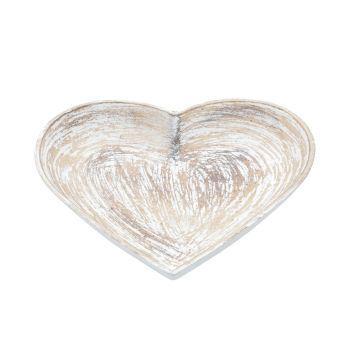 Pratinho Coração Patinado Branco P