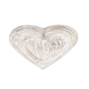 Pratinho Coração Patinado Branco M
