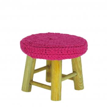 Banco Crochet Pink Mini