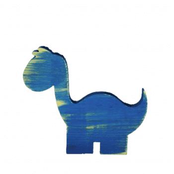Dinossauro Madeira Azul
