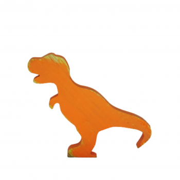 Dinossauro Madeira Laranja