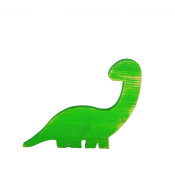Dinossauro Madeira Verde