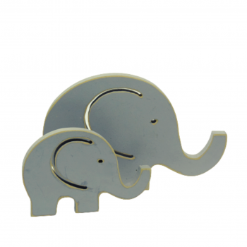 Dupla Elefante Madeira BN